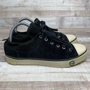 UGG Evera Black Suede Lace Up Sneaker Shoe US 8.5